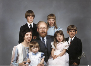 Family Picture, 1984 (I'm in the pink dress.)