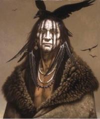 White artist Kirby Sattler draws on Native American stereotypes.