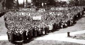 1935 mass Mother's Day protest at Malkin Memorial Shell