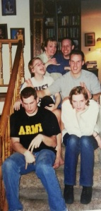 Goofing off with family, 1999