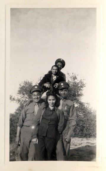 Kanowia, Bud & Friends [PFC Stephen B. Thomas' Album, 1940's] [Black Soldier Series]