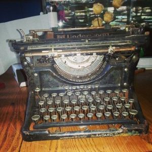 Antique Typewriter: $1.00