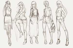 Unique Clothes Sketch Models2