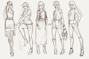 Unique Clothes Sketch Models2