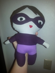 A purple ninja doll.